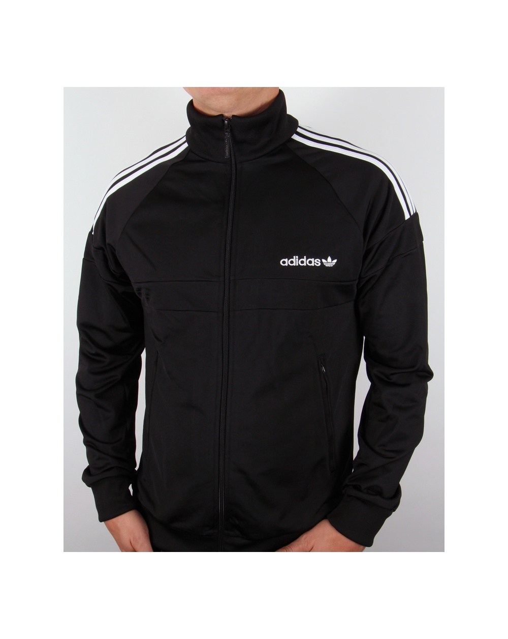 adidas originals itasca track top black jacket tracksuit mens. Black Bedroom Furniture Sets. Home Design Ideas