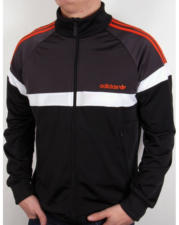 Adidas Originals Itasca Track Top Black/shadow/orange