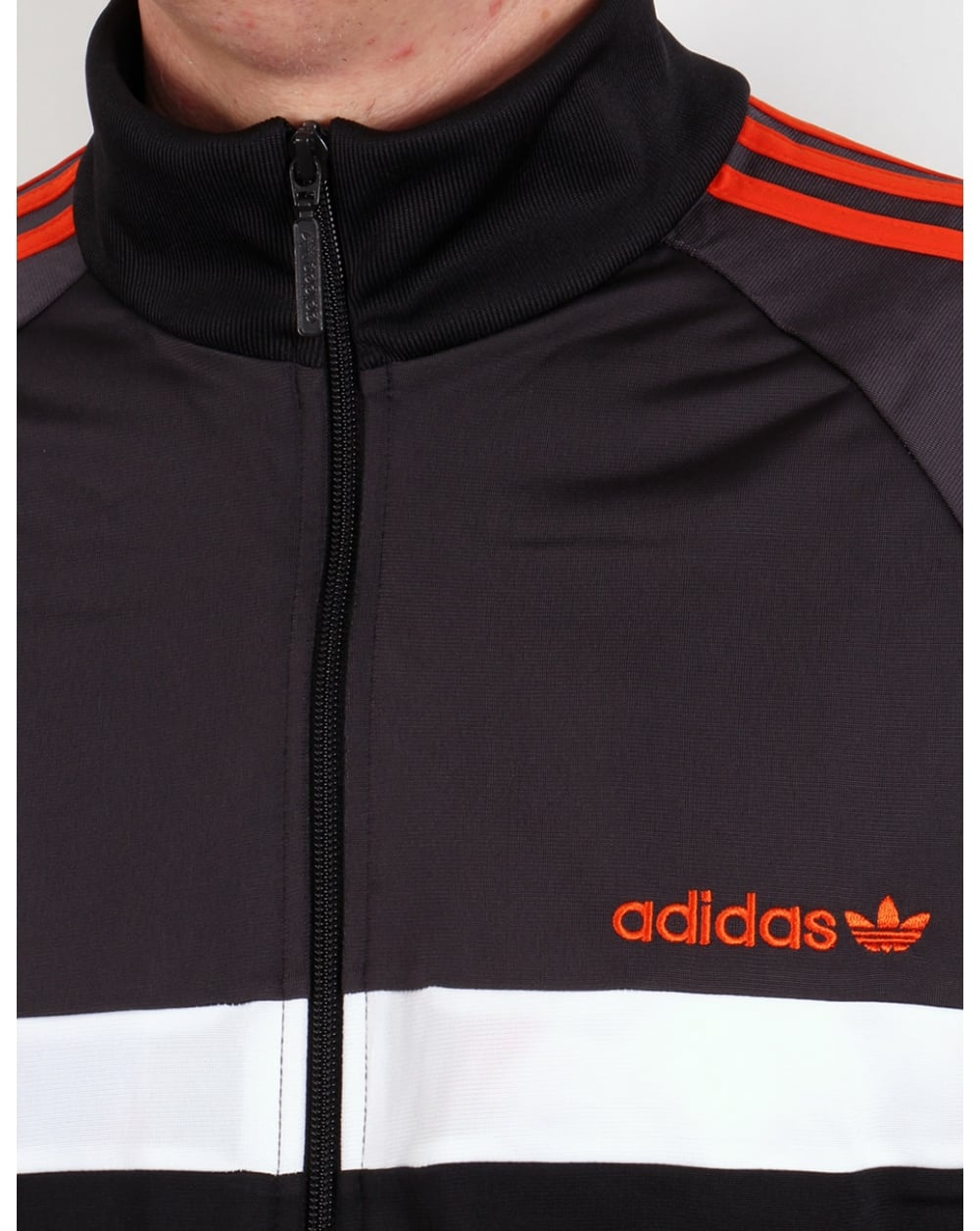 Adidas Originals Itasca Track Top Black Shadow Orange