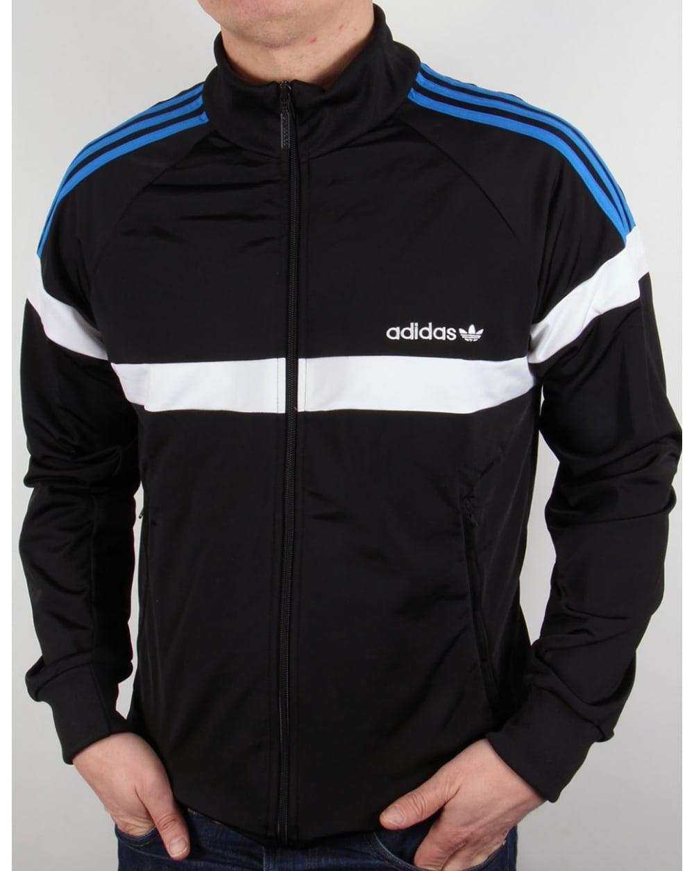 Adidas Top Ten Hi Sleek Bow Zip Trainers: Adidas Originals Itasca Track Top Black/white,jacket,tracksuit
