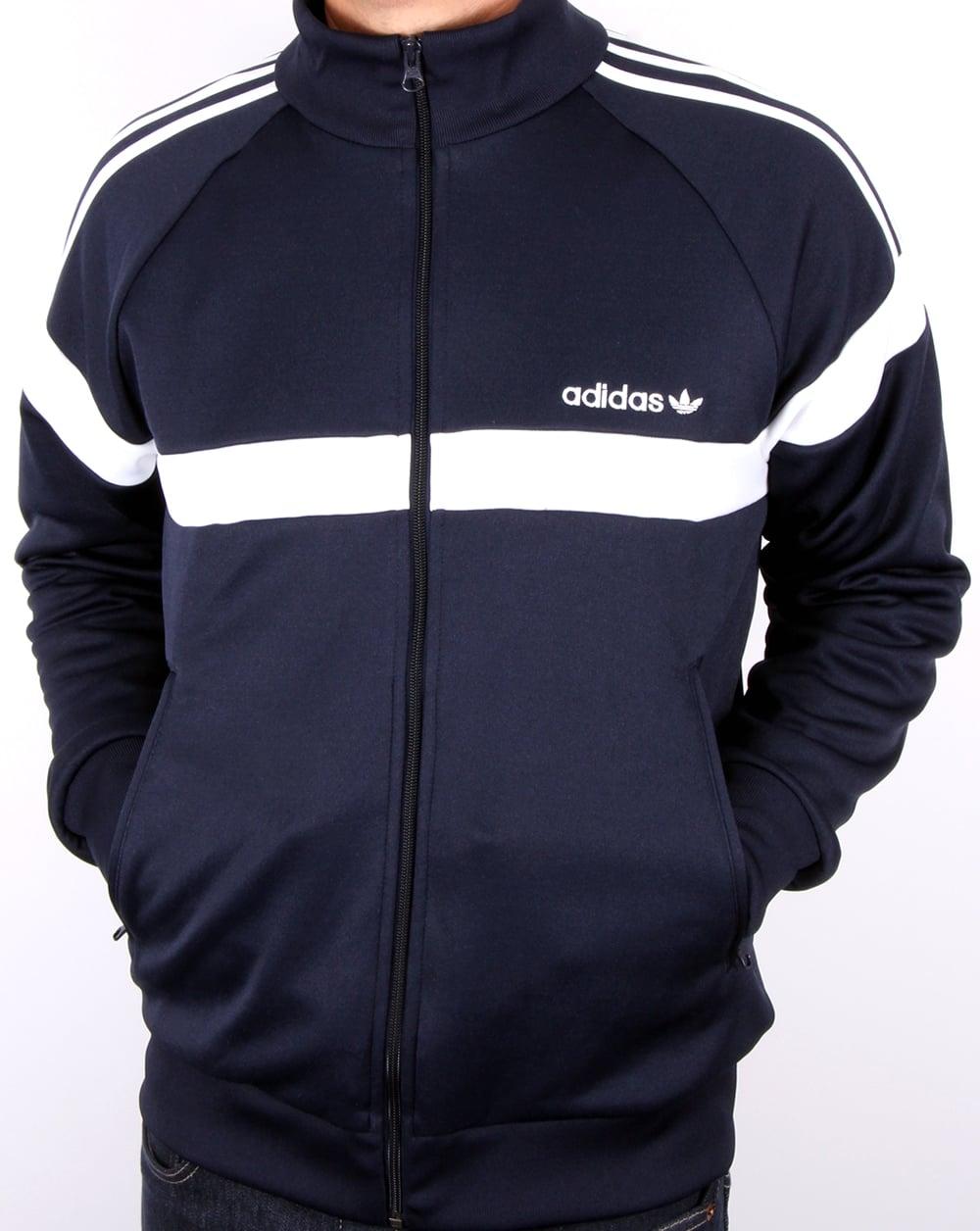 Adidas Top Ten Hi Sleek Bow Zip Trainers: Adidas Originals Itasca Track Top Navy, Men's