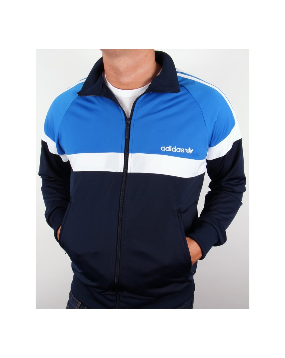 Adidas Originals Itasca Track Top Navy Royal Blue Tracksuit Jacket