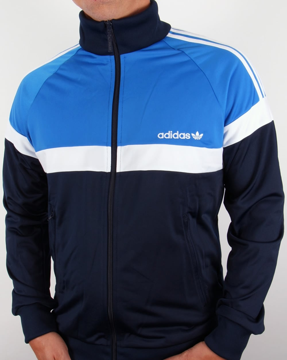 adidas originals itasca track top navy royal blue. Black Bedroom Furniture Sets. Home Design Ideas