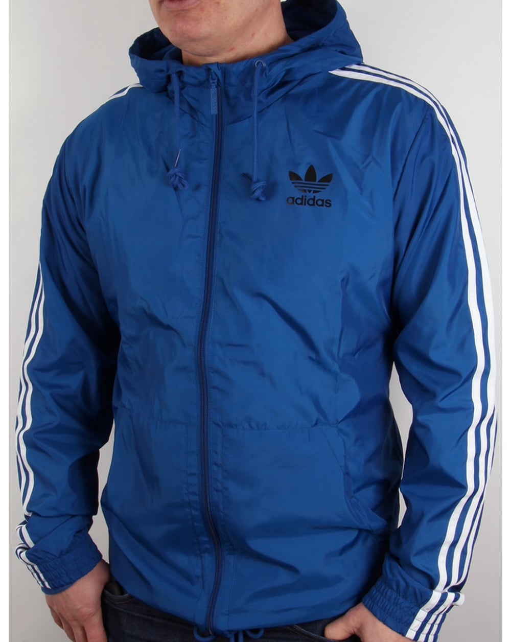 adidas originals itasca windbreaker eqt blue jacket. Black Bedroom Furniture Sets. Home Design Ideas