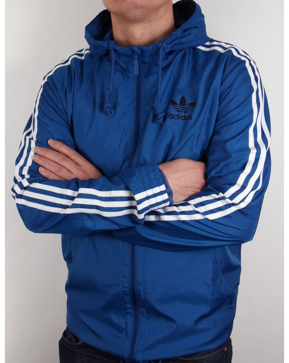 Adidas Originals Itasca Windbreaker Eqt Blue Jacket Windrunner Coat