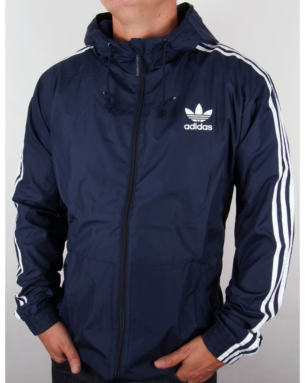 adidas originals itasca windbreaker navy originals. Black Bedroom Furniture Sets. Home Design Ideas