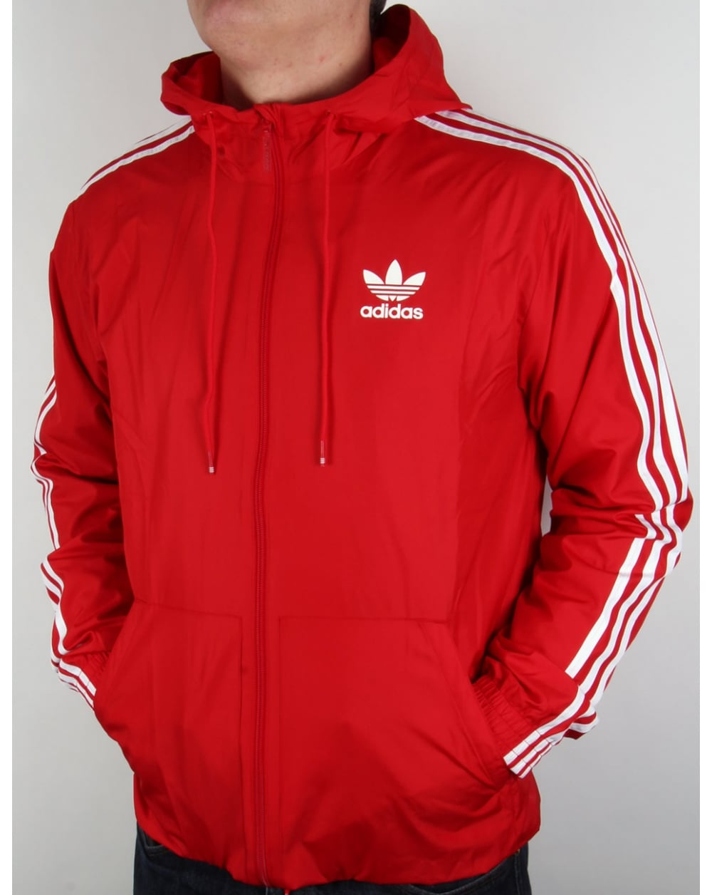 Adidas Originals Itasca Windbreaker Red Jacket Windrunner Coat