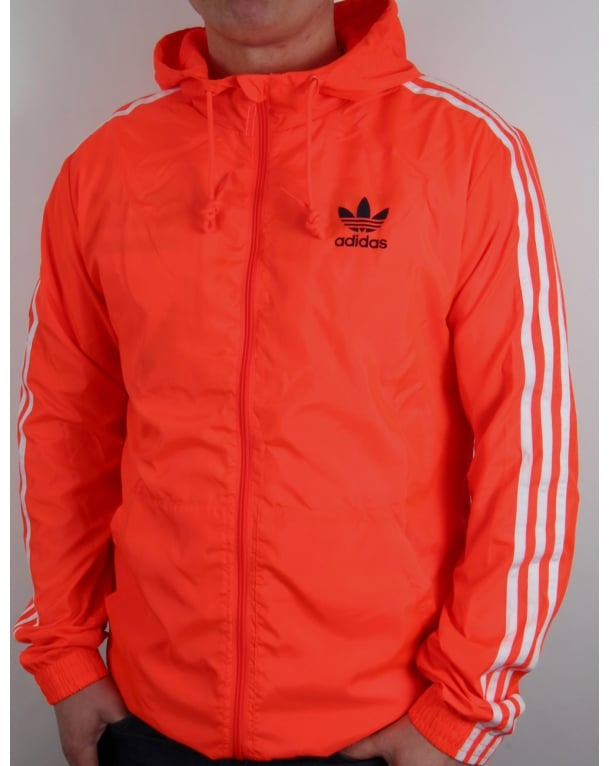 Adidas Originals Itasca Windbreaker Solar Red Jacket Windrunner Coat