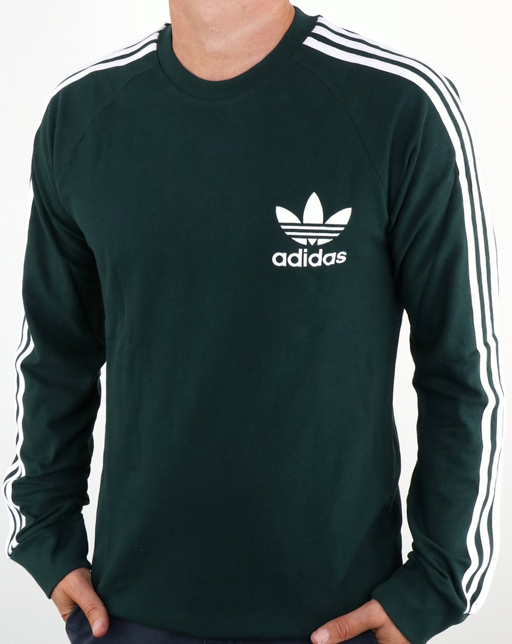 Adidas Originals Long Sleeve Pique T Shirt Green Night