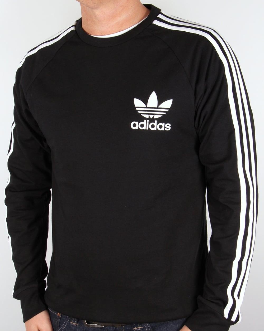 f98aaba1 Adidas Originals CLFN Long Sleeve T Shirt Black,trefoil,tee,mens