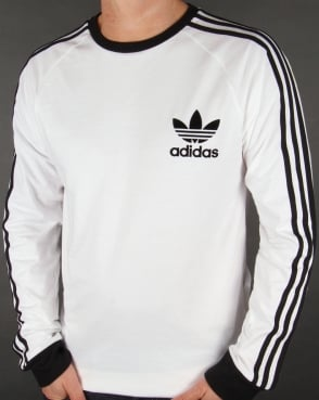 Adidas Originals Long Sleeve T Shirt White-Black