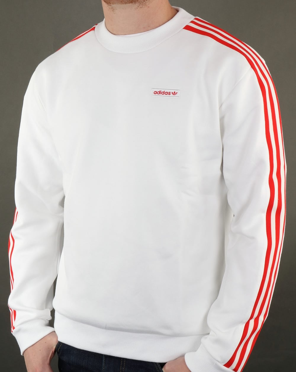 adidas originals mdn sweatshirt white men 39 s top cotton. Black Bedroom Furniture Sets. Home Design Ideas