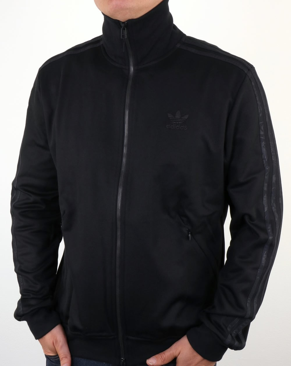 adidas originals ob beckenbauer track top black tracksuit. Black Bedroom Furniture Sets. Home Design Ideas