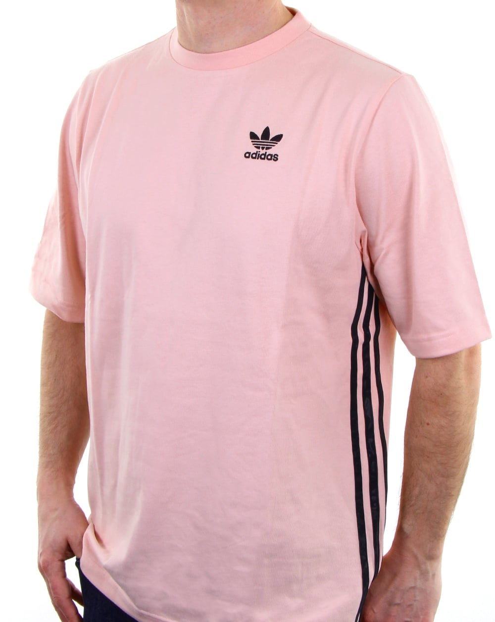 Adidas pink t shirt mens l d for Mens pink shirts uk