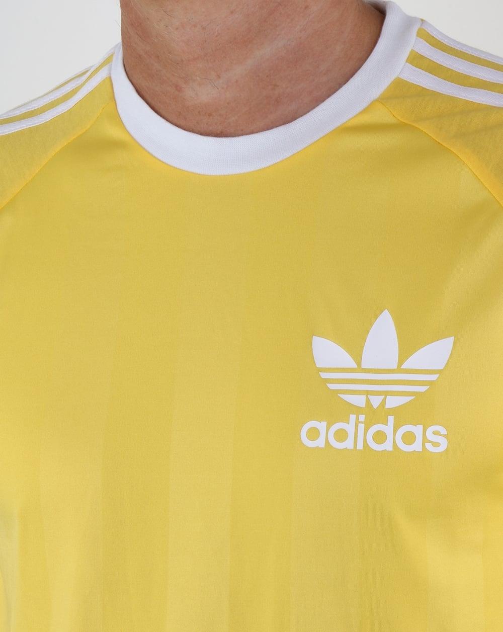 90fe30dbc6f9 Adidas Originals Old Skool 3 Stripes T Shirt Citrus Yellow