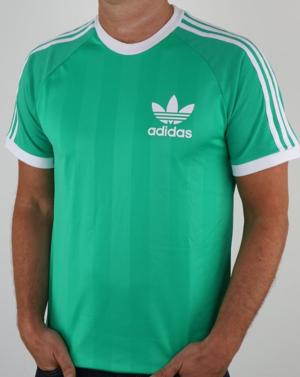 Adidas Originals Old Skool 3 Stripes T Shirt Vivid Green