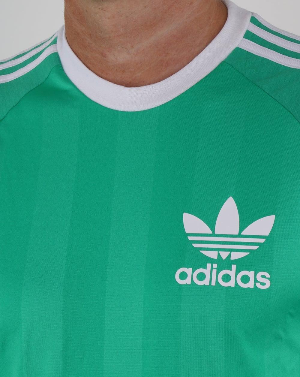 b4f04d51dd27 Adidas Originals Old Skool 3 Stripes T Shirt Vivid Green