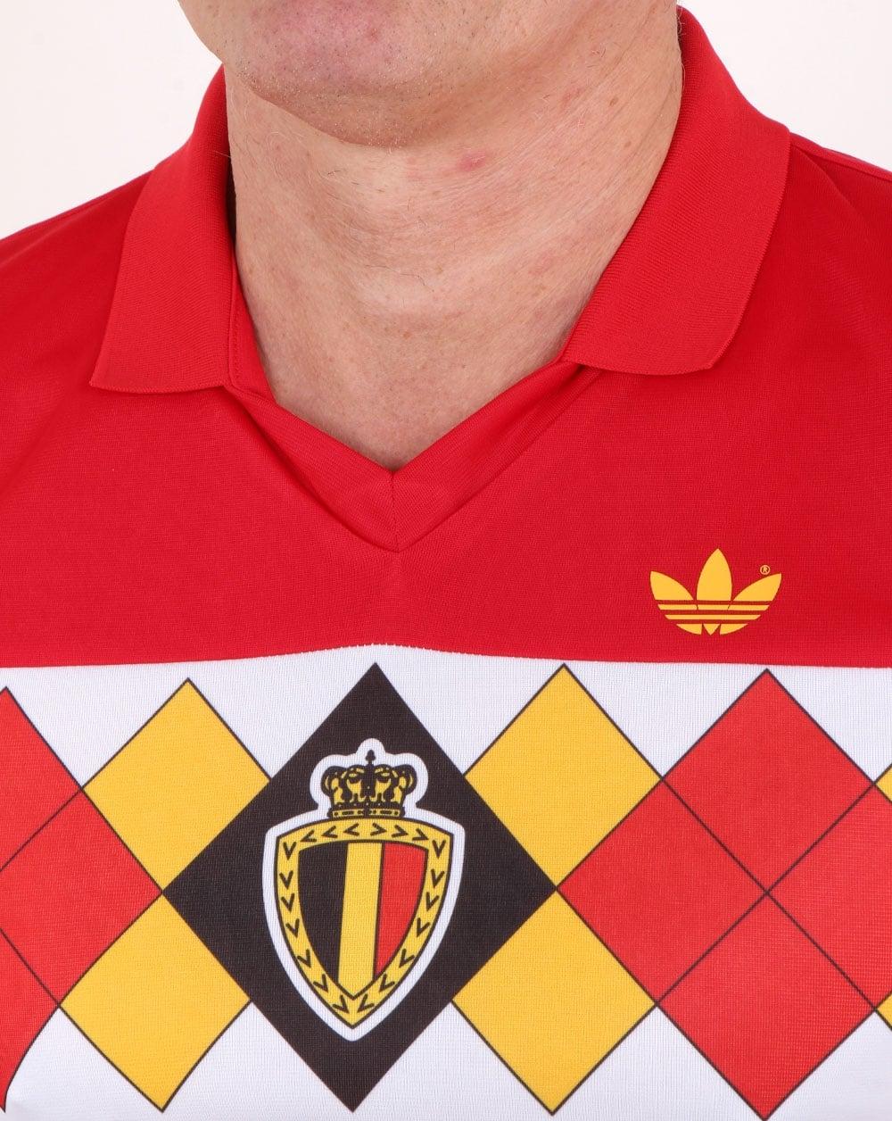802b10776 Adidas Originals Belgium Jersey Victory Red, Mens, 1984, European