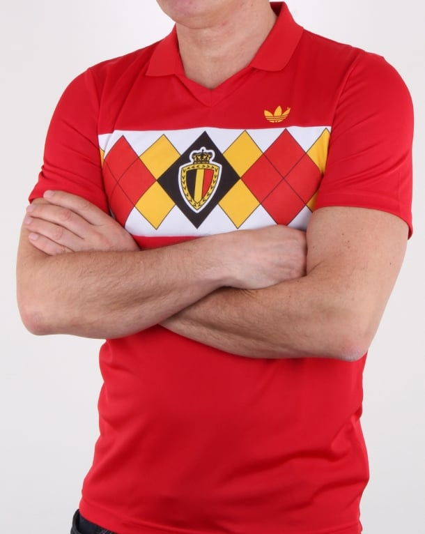 new authentic buying cheap new photos Adidas Originals Belgium Jersey Victory Red, Mens, 1984, European