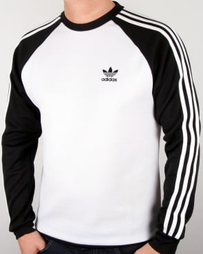 Adidas Originals Old Skool Sweat Top White/black