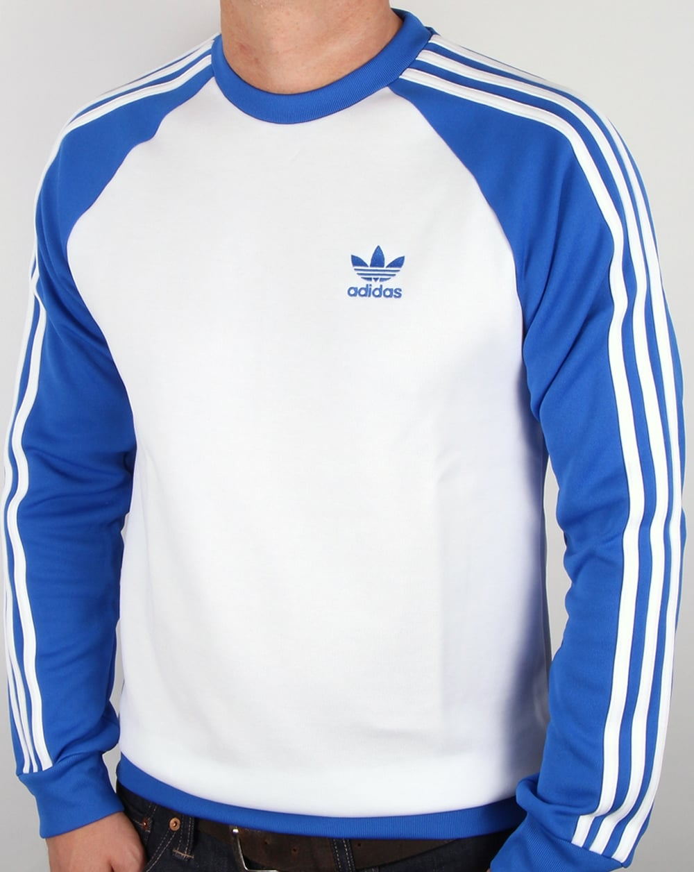 co uk Sweatshirt Adidas Blue Mens Thehampsteadfactory FTJK1cl