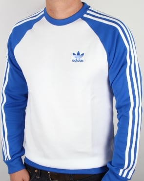 Adidas Originals Old Skool Sweat Top White/Blue