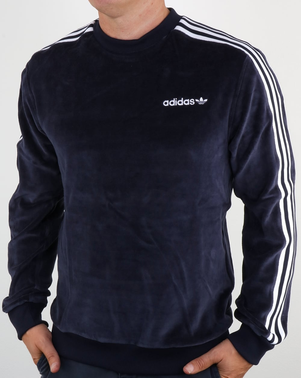 Adidas Originals OS Velour Crew Sweat Legend Ink