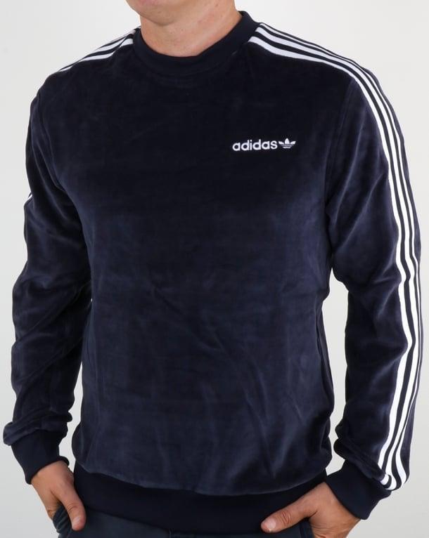 Adidas Originals OS Velour Crew Sweat Legend Ink