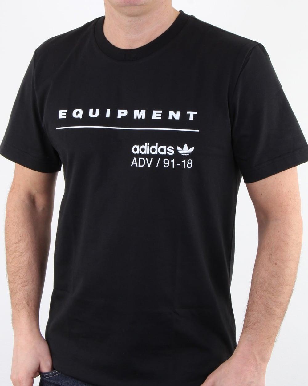 Adidas originals pdx classic t shirt black mens cotton for Adidas classic t shirt