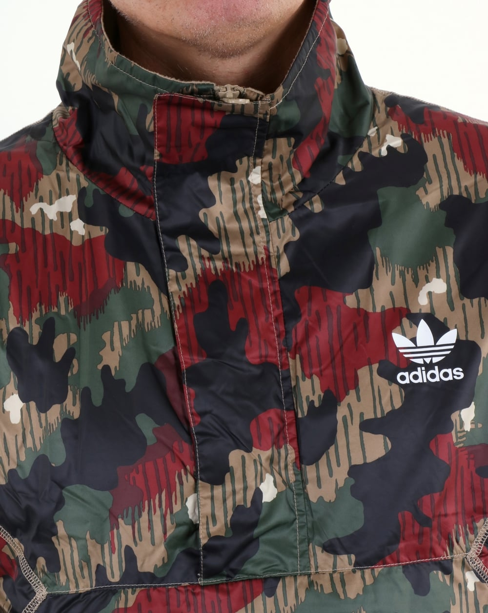 0309faf0eda0f Adidas Originals Pharrell Williams HU Hiking Half Zip Camo Windbreaker