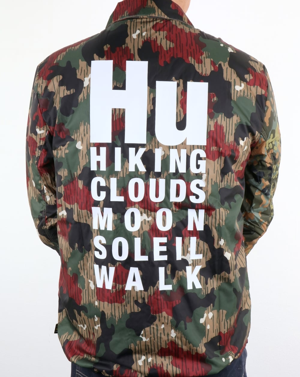 af6e3b1a2485d Adidas Originals Pharrell Williams Hu Hiking Reversible Camo Coach Jacket