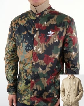 Adidas Originals Pharrell Williams Hu Hiking Reversible Camo Coach Jacket