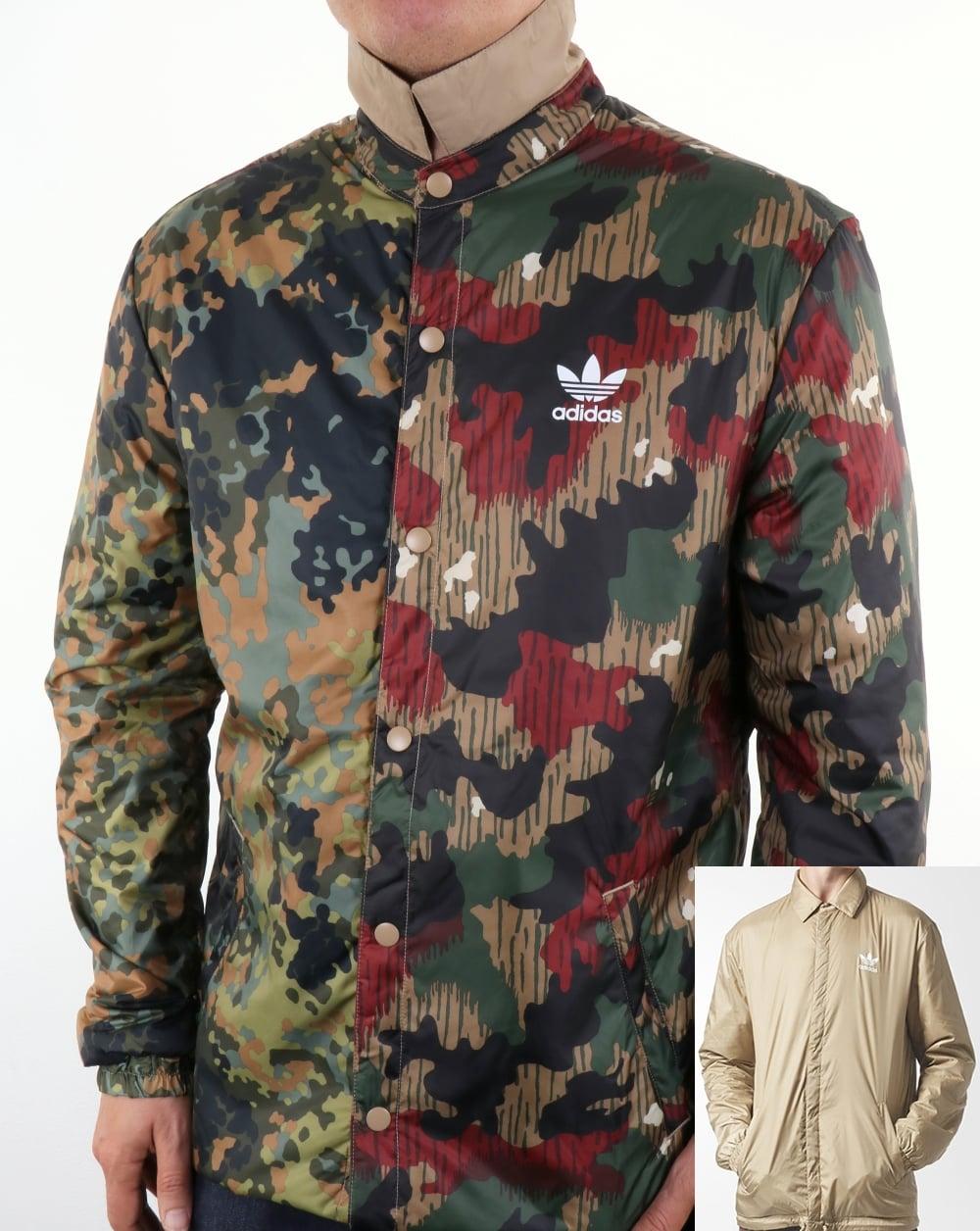 Adidas Originals Pharrell Williams Hu Hiking Reversible Camo Coach Jacket