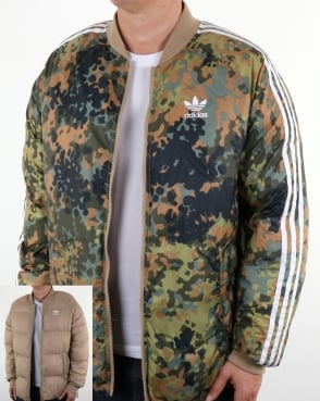 Adidas Originals Pw Hu Sst Winter Jacket Camo/hemp