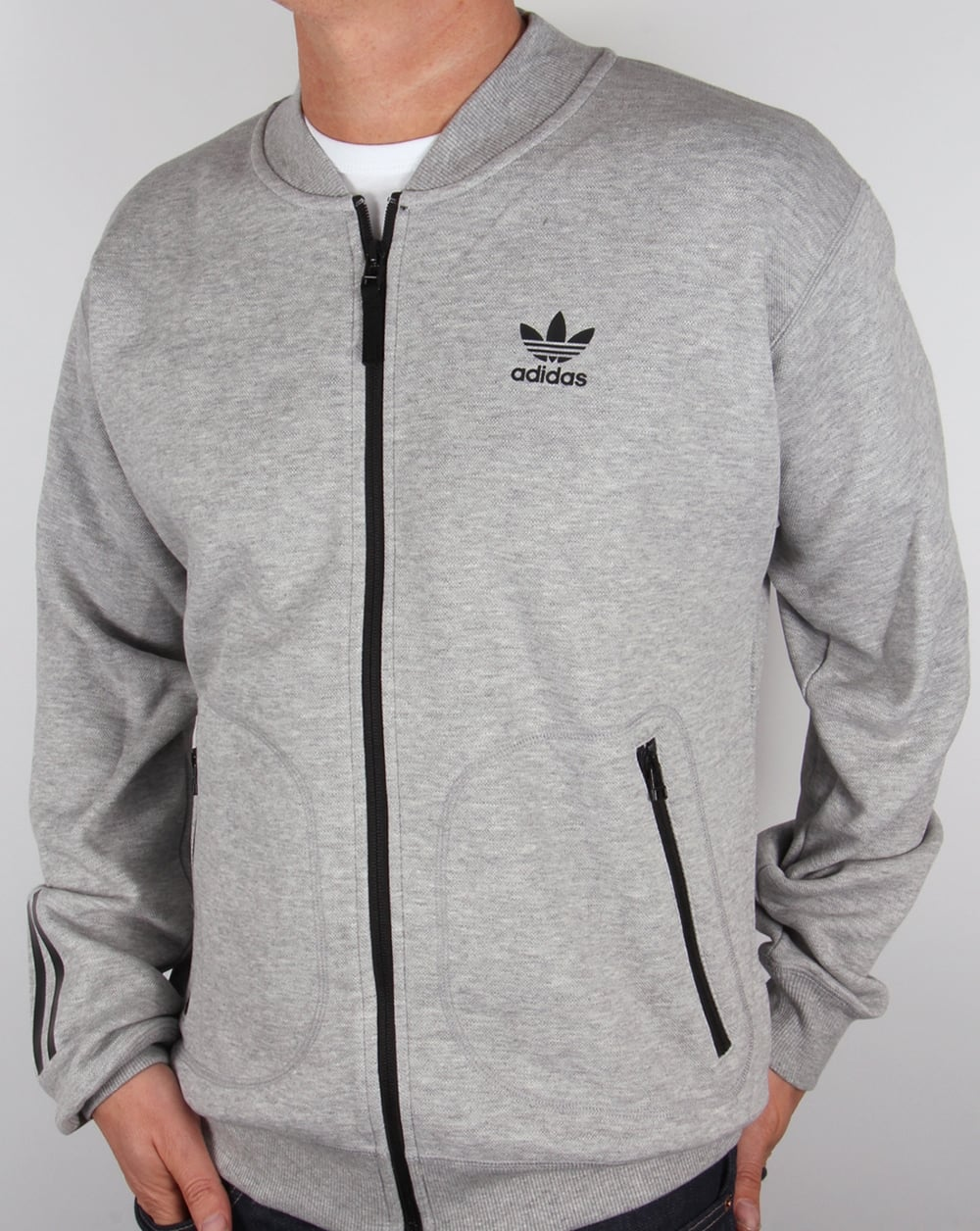 adidas Originals Adidas Originals Relaxed Superstar Track Top Grey Heather 27b29f3ff2