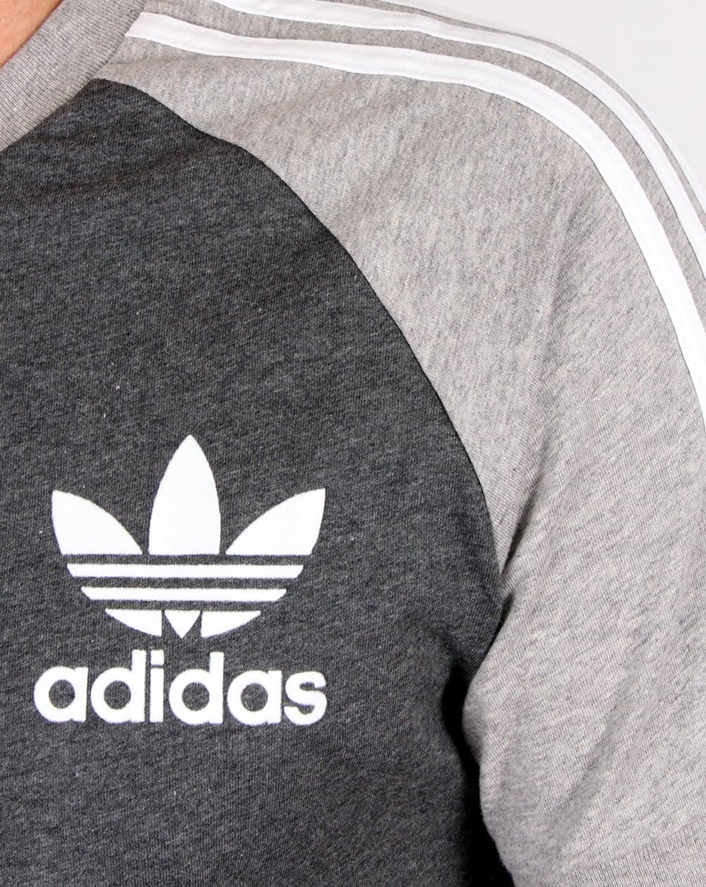 adidas retro 3 stripes t shirt