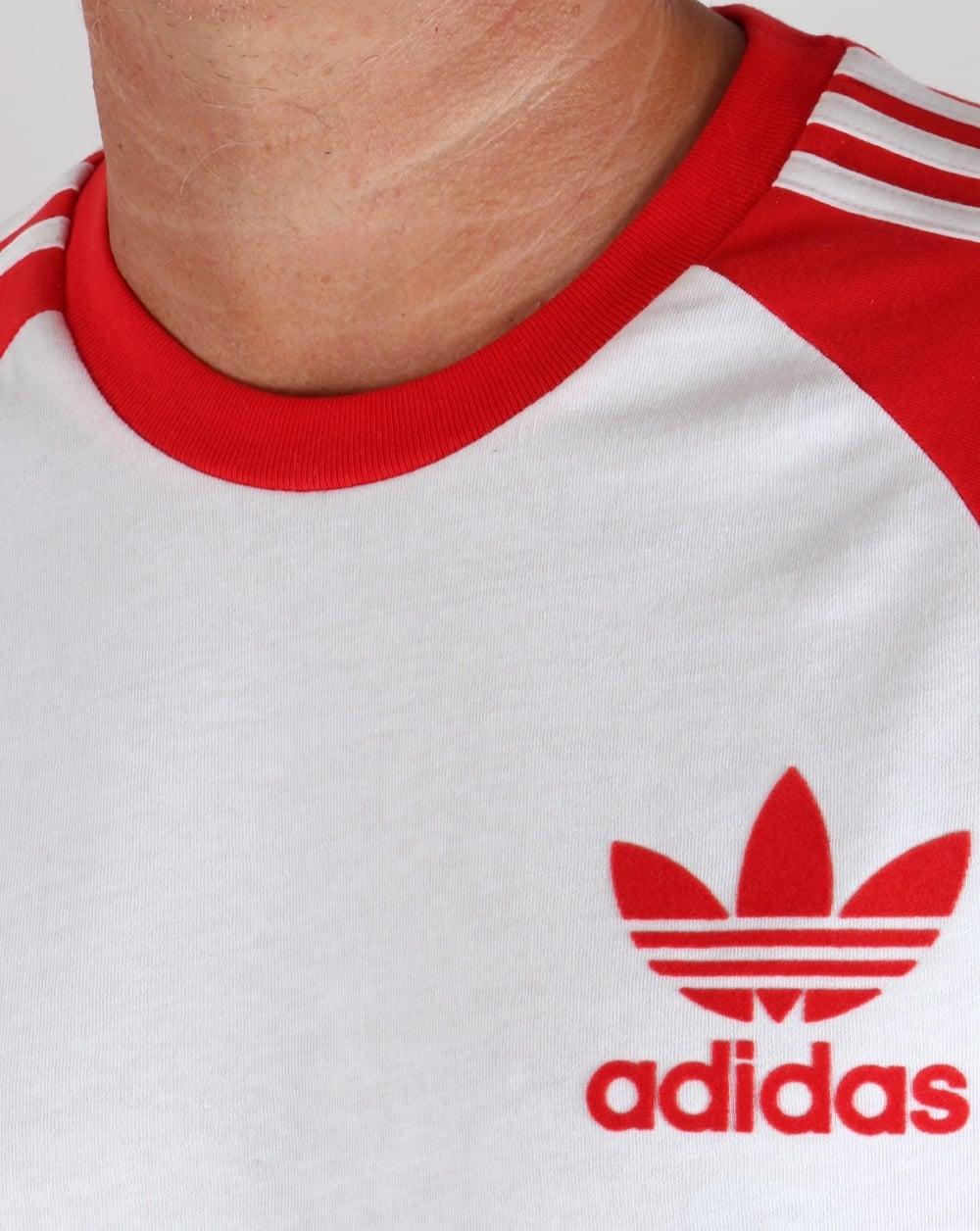 c7296ebbbc5 Adidas Red And White Tee Shirt