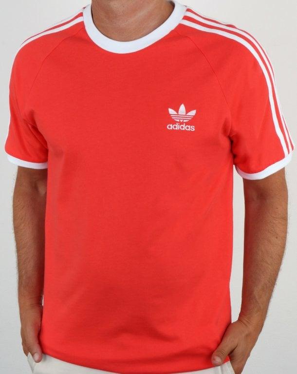 Retro Shirt 3 T Stripes Originals BRed Adidas OkZPuiXT
