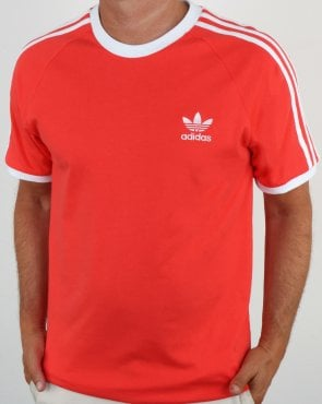 Adidas Originals Retro 3 Stripes T-Shirt B. Red