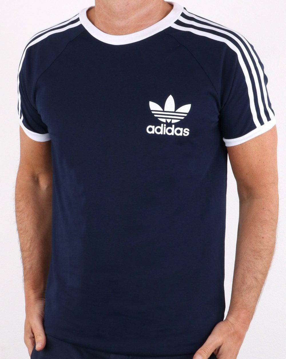 2b4c83aa Adidas Originals Retro 3 Stripes T-shirt Navy | 80s casual classics