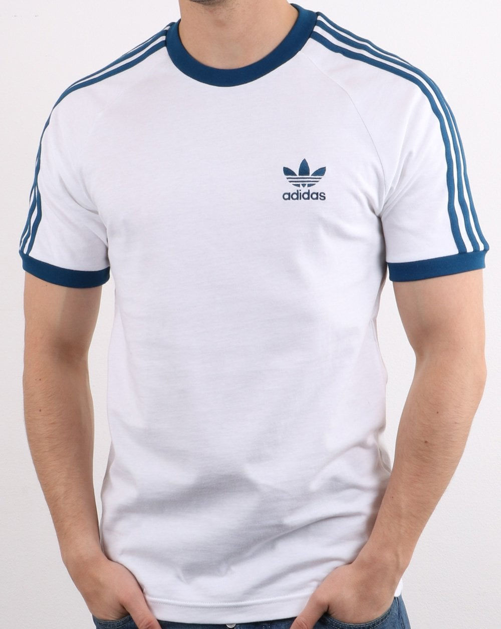 Adidas Originals Retro 3 Stripes T Shirt White/legend Marine
