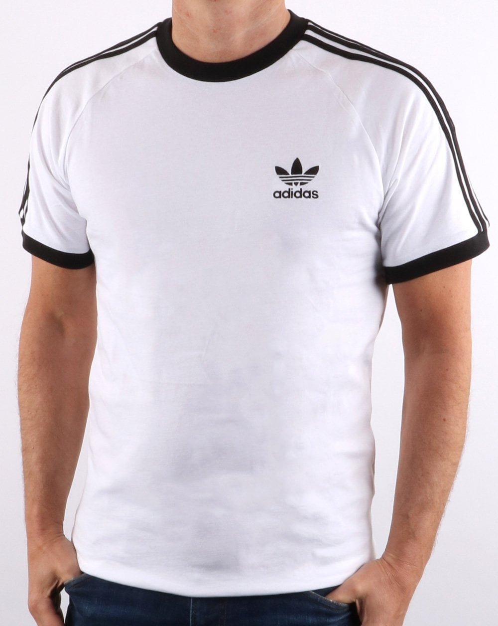 b98f8f9f524b1d Adidas Originals Retro 3 Stripes T Shirt White | 80s casual classics
