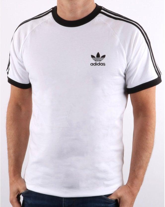 a3b8863526a adidas Originals Adidas Originals Retro 3 Stripes T Shirt White