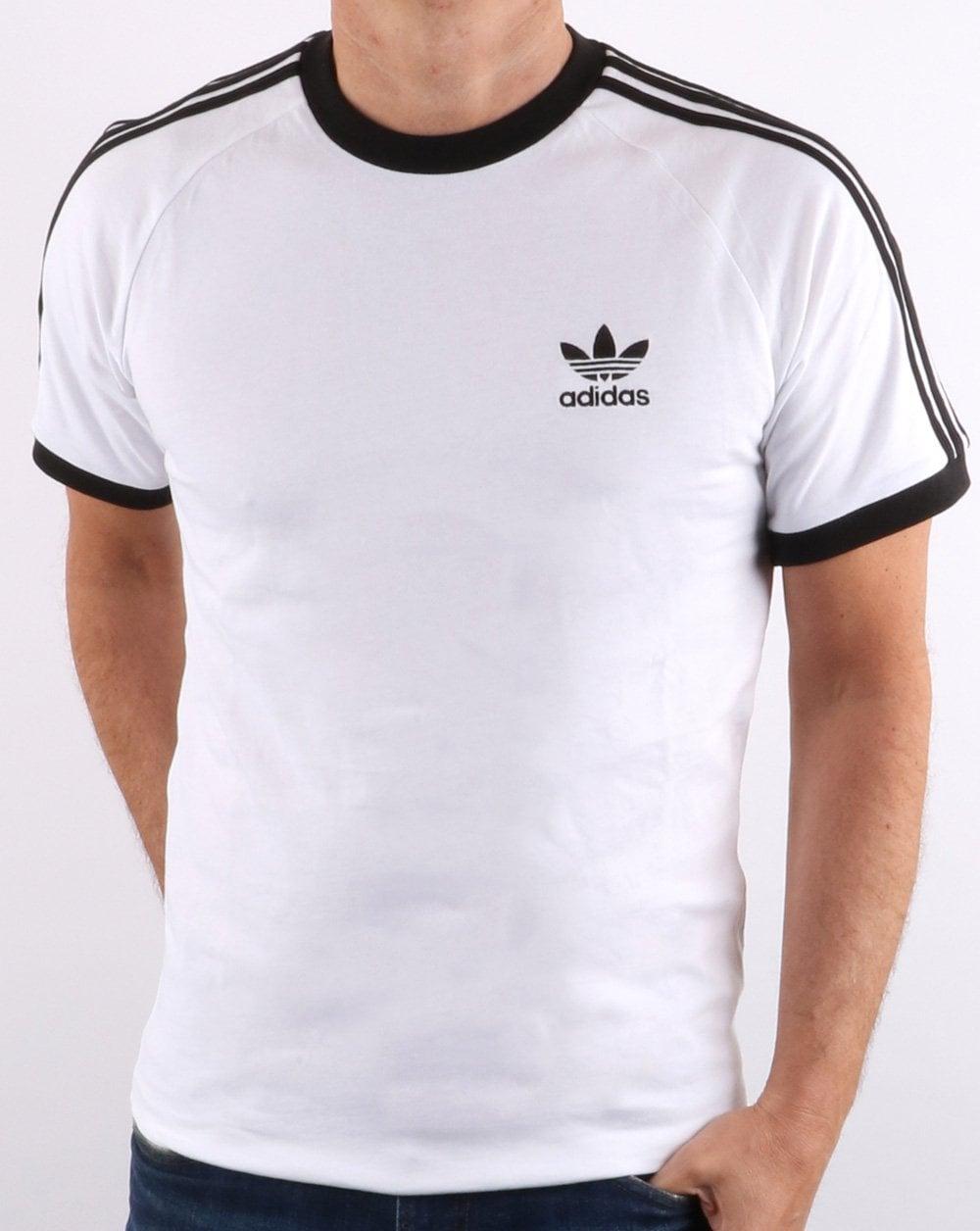 d4961ce86 Adidas Originals Retro 3 Stripes T Shirt White