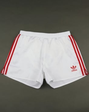 Adidas Originals Retro 90s Shorts White-red