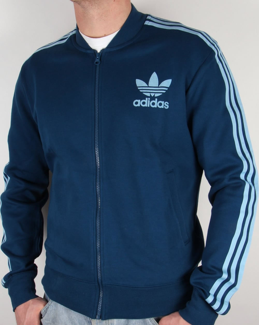 adidas originals retro superstar track top blue clear blue. Black Bedroom Furniture Sets. Home Design Ideas