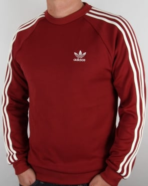 Adidas Originals Retro Sweat Top Burnt Red