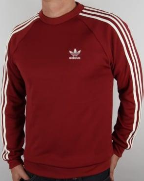 Adidas Originals Retro Sweat Top Burnt Red