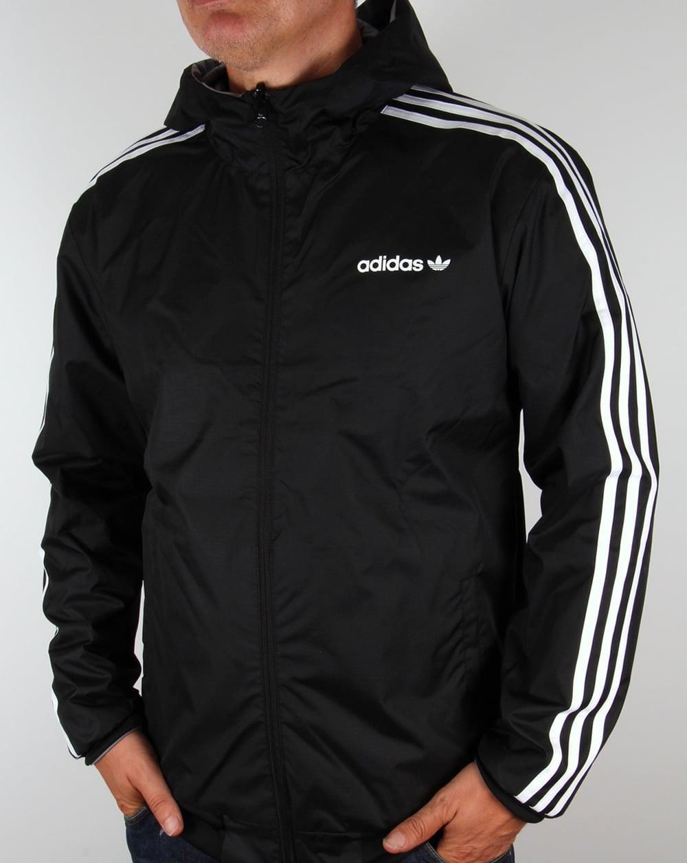 Adidas Originals Windbreaker Grey/Black,jacket,coat,retro, classic ...