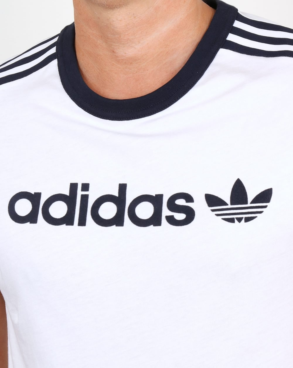 a56c49f0 Adidas Originals Linear T Shirt White,ringer,3 stripes,tee,mens